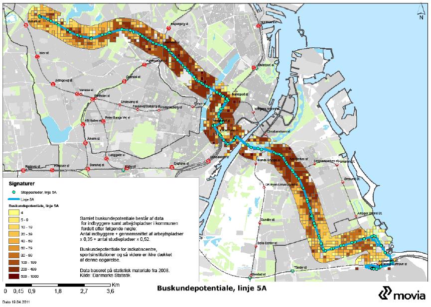 kort over busser i københavn